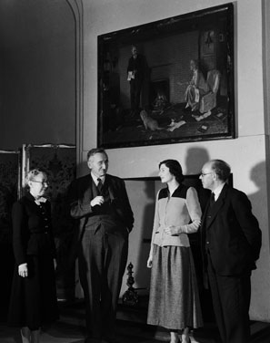 Friedrich Hayek, second from left, at the London School of Economics in 1948