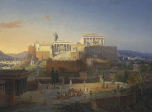 The Acropolis in ancient Athens