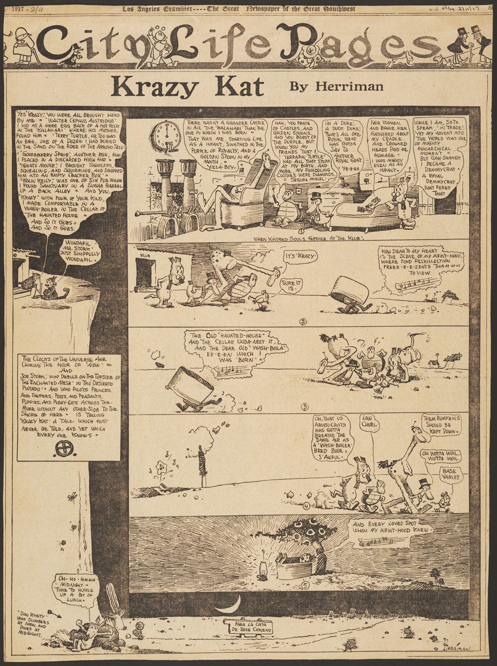 Everyone from Pablo Picasso to H. L. Mencken loved Krazy Kat.