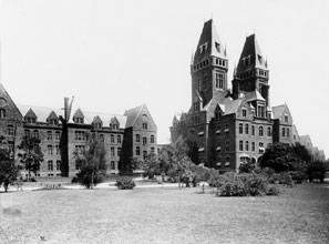Under the Kirkbride Plan, patients were treated in the beautiful, calming surroundings of such institutions as the Buffalo State Asylum for the Insane.