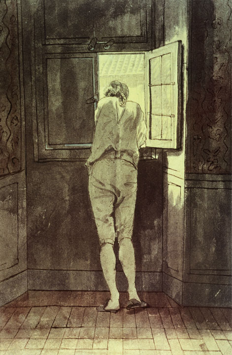 Tischbein depicts Goethe in his Roman apartment.
