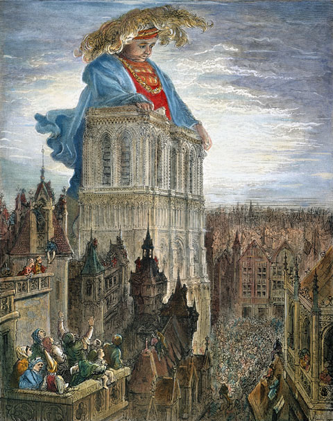 Rabelais's Gargantua (overlooking Paris) exulted in the possession of classical learning.