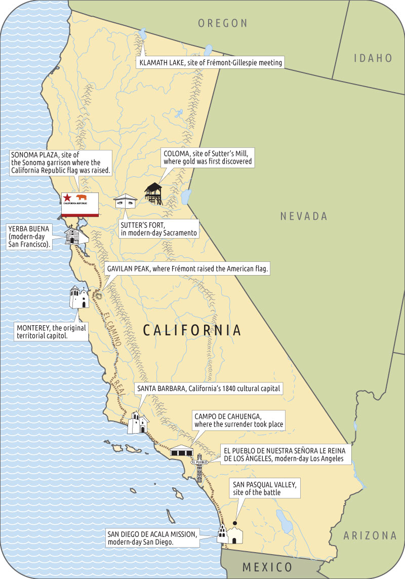 California Emerges City Journal - Calf map