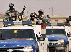 Iraqi police struggle to maintain law and order in Baghdad.