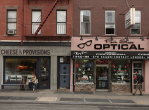 New and old storefronts in Brooklyn