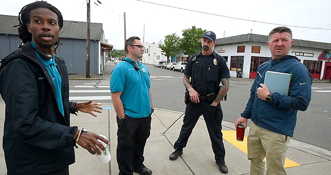 To reduce the burden on emergency providers, the City of Olympia recently hired a Crisis Response Unit to patrol the streets and build relationships with the most seriously mentally ill. STEVE BLOOM/THE OLYMPIAN
