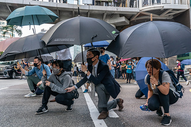 Pro-democracy Protesters in Hong Kong (Photo by Anthony Kwan/Getty Images)