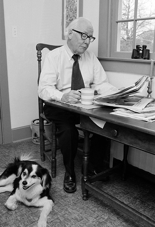 In an earlier era, Times columnists like Pulitzer Prize winner Red Smith found meaning and poetry on the playing field, not in politics. (RON FREHM/AP PHOTO)