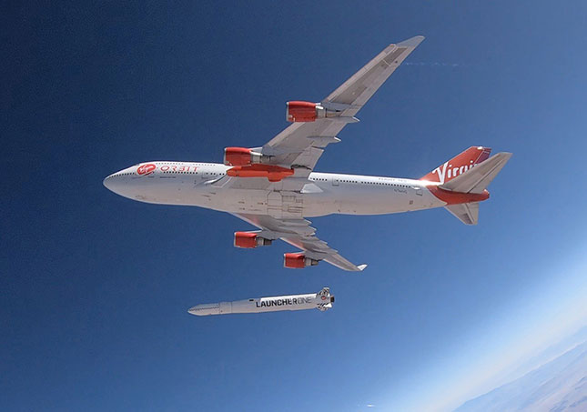 Virgin Orbit, which provides launch technology for small satellites, represents the next phase in the evolution of Long Beach's aerospace industry. (VIRGIN ORBIT/COVER IMAGES/NEWSCOM)