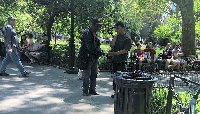 Drug Transaction in Washington Square Park (Photo: Courtesy of the Author)