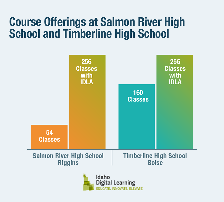Course Offerings at Salmon River High School and Timberline High School