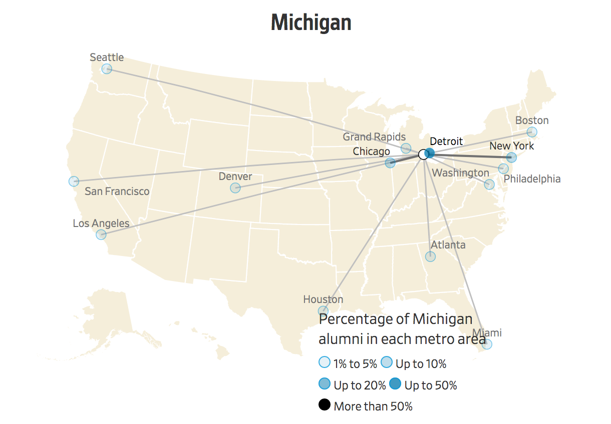 Colleges In Ny State Map.Where College Grads Are Moving Graduation Rate In America